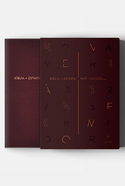 BIBLIA DE ESTUDO NVT VINHO