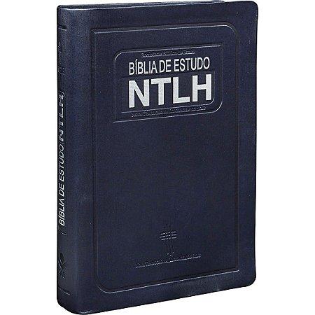 BÍBLIA DE ESTUDO NTLH AZUL ESCOVADO