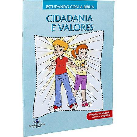 REVISTA ESTUDANDO COM A BÍBLIA - LIVRO 10 - CIDADANIA E VALORES