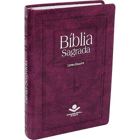 BÍBLIA RC LETRA GIGANTE  ÍNDICE PURPURA NOBRE