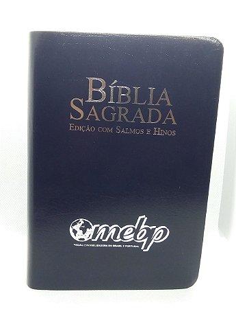 BÍBLIA COM SALMOS E HINOS LETRA GRANDE AZUL