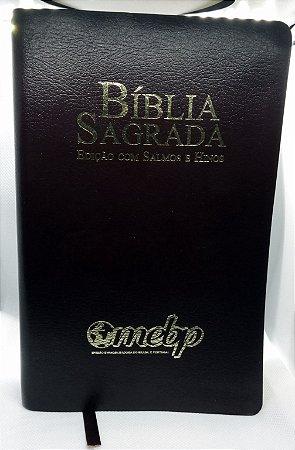 BÍBLIA COM SALMOS E HINOS LETRA GIGANTE PRETA