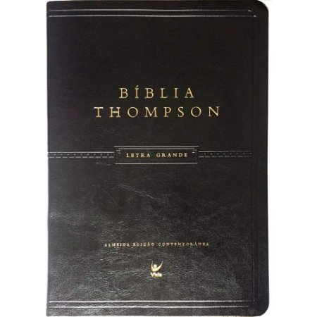 BÍBLIA THOMPSON AEC LETRA GRANDE LUXO PRETA PU C/ ÍNDICE
