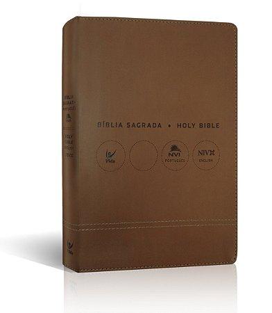BÍBLIA NVI PORTUGUÊS INGLÊS - MARROM