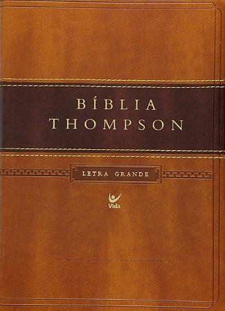 BÍBLIA THOMPSON AEC LETRA GRANDE - MARROM CLARO E ESCURO