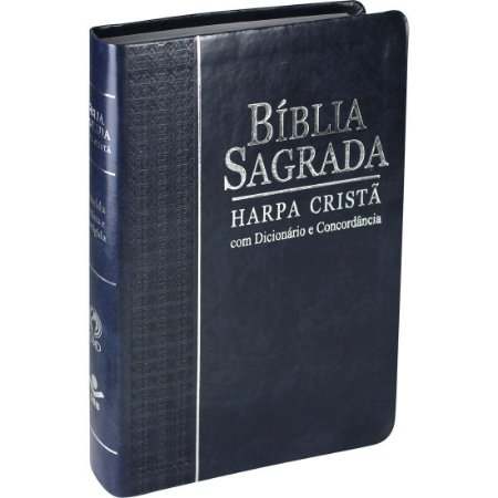 BÍBLIA COM CONCORDÂNCIA DICIONÁRIO HARPA - AZUL NOBRE