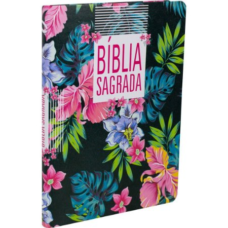 BÍBLIA NAA SLIM GRANDE - FINA FLOR/PRETA