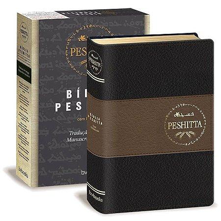 BÍBLIA PESHITTA COM REFERÊNCIAS - PRETO/MARROM