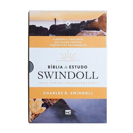 BÍBLIA DE ESTUDO SWINDOLL CAPA PETRA