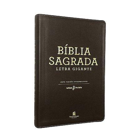 BIBLIA NVI LETRA GIGANTE LEITURA PERFEITA MARROM