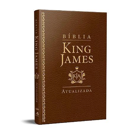 BÍBLIA KING JAMES ATUALIZADA LUXO SLIM MARROM