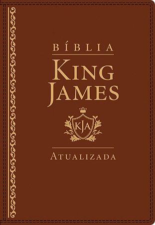 BÍBLIA KING JAMES ATUALIZADA DE ESTUDO LETRA GRANDE MARROM
