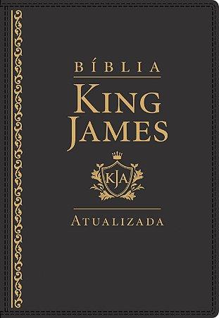 BÍBLIA KING JAMES ATUALIZADA DE ESTUDO LETRA GRANDE PRETA