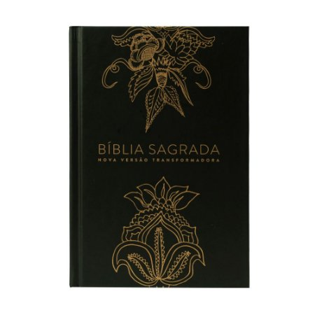 BÍBLIA NVT INDIAN FLOWERS DOURADA CAPA DURA LETRA NORMAL