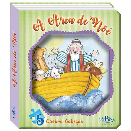 JANELINHA LENTICULAR BÍBLICA COM QUEBRA-CABEÇAS - A ARCA DE NOÉ