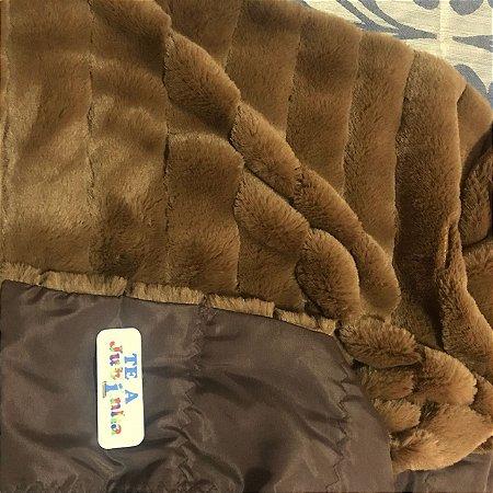Cobertor Ponderado Artesanal - PP/Pelúcia - 1M X 1,4M - Frete Grátis