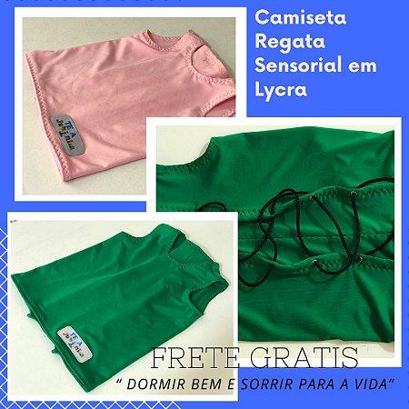 Camiseta Regata Sensorial em Lycra - M - Frete Grátis