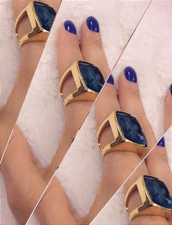 Anel Azul em Cristal