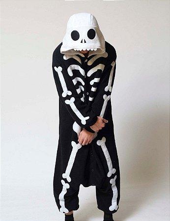 Kigurumi Esqueleto Preto
