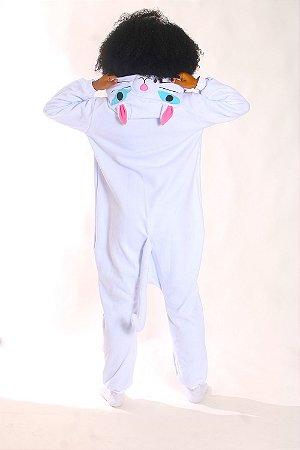 Gatinha Branca Pijama Kigurumi Fantasia Gata