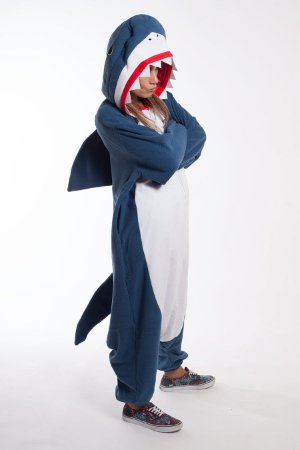 Bebê Tubarão Pijama Kigurumi Fantasia