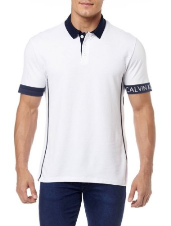 Polo Calvin Klein Jeans Logo no Punho