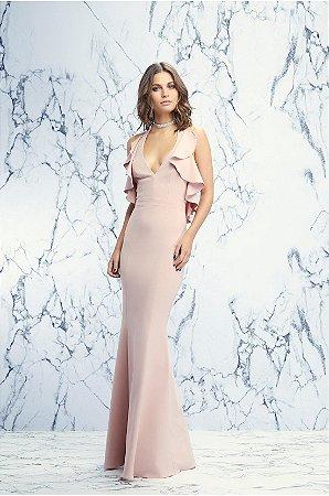 Vestido Longo Babados Rosê Iorane