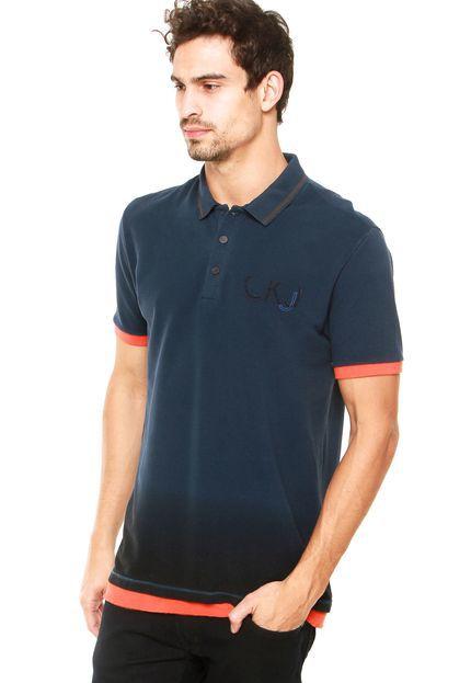 Camisa Polo Calvin Klein Contraste Azul-Marinho