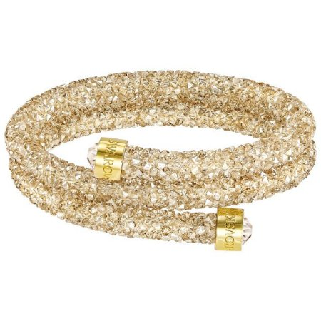 Pulseira Swarovski Crystaldust Double, Dourada