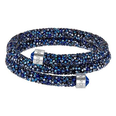 Pulseira Swarovski Crystaldust Double Bangle, Azul