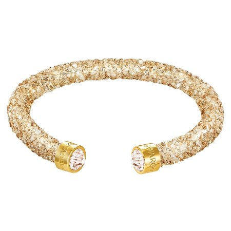 Pulseira Swarovski Crystaldust Cuff, Dourada