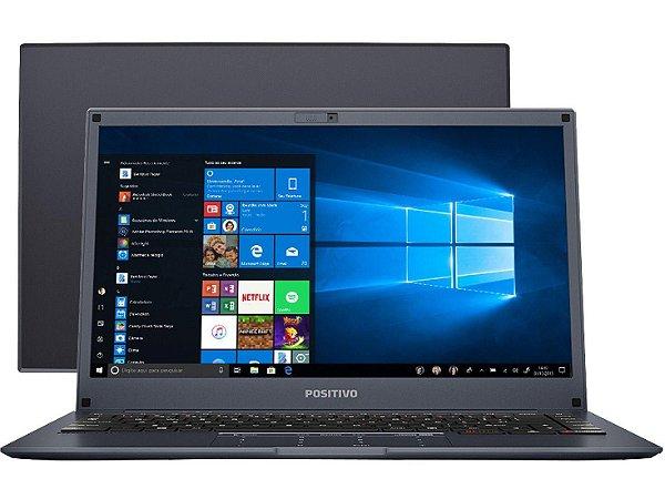 "Notebook usado, Positivo Motion Plus Q464B, Atom x5-Z8350, 1.44GHz, 4GB, 60GB, 14"", Win10, Bateria perfeita!"
