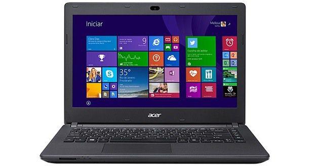 "Notebook usado, Acer ES1, Intel Quad Core, 1.83GHz, 4GB, HD500GB, 14"" HD, Leitor CD/DVD, Win10, Bateria perfeita!"