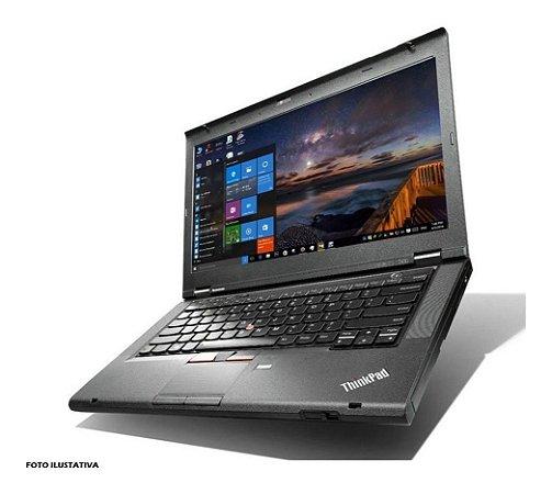 Notebook usado, Lenovo ThinkPad T430, Core i5-3320M 2.60GHz, 4Gb, HD500Gb, Leitor CD/DVD, Win10 PRO, Bateria não segura carga, Mouse USB.