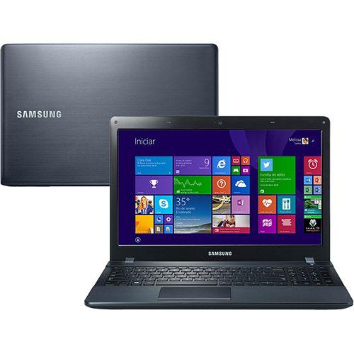 "Notebook usado, Samsung, AMD E1-1500, 1.48GHz, 4GB, HD500GB, 14"", Leitor de CD/DVD, Win10, Bateria ok!"