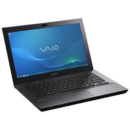 """Notebook usado, Sony Vaio, i5 2.30GHz, 4GB, HD500GB, 13.3"""", Leitor CD/DVD, sem bateria, Windows 10!"""