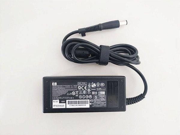 FONTE CARREGADOR NOTEBOOK HP 18.5V x 3.5A PLUG 7.4mm x 5mm - Plug Agulha