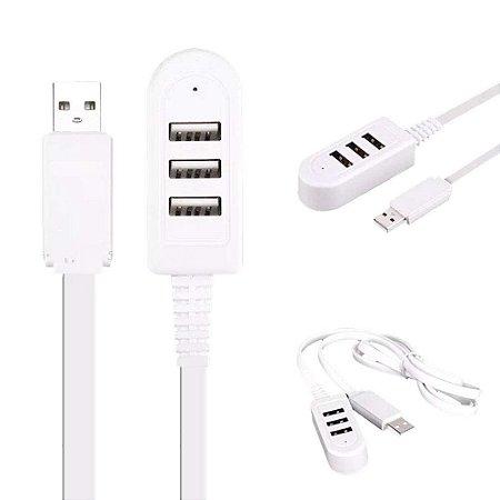 HUB EXTENSOR DE USB 2.0 COM 3 PORTAS CABO DE 1.2M