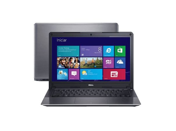 Notebook Dell Vostro 5470 Tela Touch, Intel Core i5-4210U 1.70GHz-2.60GHz, Placa de Vídeo Dedicada 2Gb NVídia, 8GB-ram, HD500GB, HDMI Win10 HOME SL.