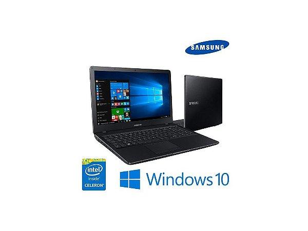 "Notebook usado Samsung NP300E5M-KFABR Celeron Dual Core 3865U 1.8GHz, Tela 15.6"" Full HD, 4Gb, HD 500gb, Wifi, Webcam, Hdmi, Win10, Teclado alfanúmerico, Bateria perfeita."