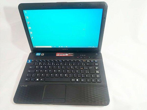 Notebook usado Sony Vaio VPCEG13EB, Intel Core i3-2310M 2.10GHz, 4Gb, HD 500gb, Wifi, Hdmi, Win10, Leitor de cd/dvd