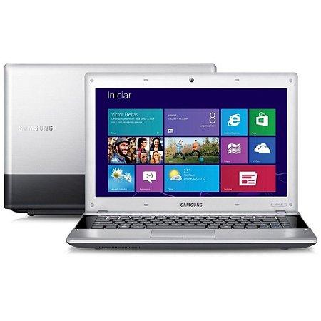 Notebook Samsung usado NP300E Intel Celeron CPU B820 - 1.70GHz, 4Gb, HD 320Gb, Win 10!