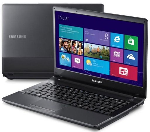 Notebook Usado Samsung NP300E4C, Intel core i5-3210M-2.5GHz, 4Gb-ram, HD500GB, DVD-RW, WiFi, Webcam, Win10, Bateria boa!