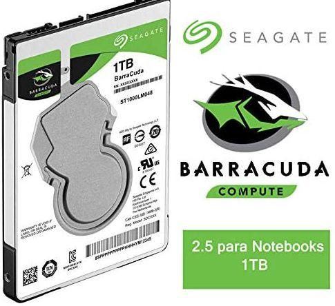 "HD NOTEBOOK, 1TB, 2.5"", SATA, SEAGATE BARRACUDA, 7mm - HD Interno para Notebook"