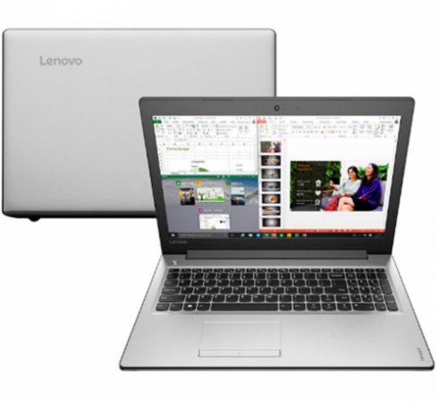 "Notebook usado Lenovo ideapad, Intel Core i3-6006U 2.00GHz, Tela 14"" LED, 4Gb, SSD 120GB, Wifi, Webcam, Hdmi, Win10!"