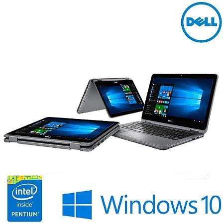 "Notebook usado Dell Inspiron 11-3168, 11.6"" Touch, Intel Pentium N3710 QuadCore 1.60GHz, 4Gb, HD 500gb, Wifi, Hdmi, Win10!"
