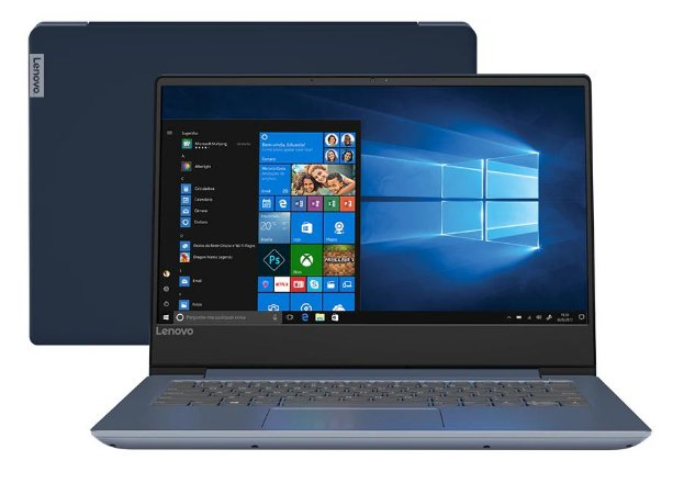 "Notebook Seminovo, Ultrafino, Lenovo, Ideapad 330S, Core i5-8250U, 8.Geração Intel, 8Gb, HD1Tb, 14"", Webcam, Wi-Fi, Win10."