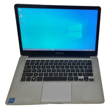 Notebook Usado, Positivo Motion Q232A, Intel Atom Quad-Core 1.44GHz, 2GB, SSD32GB, Webcam, Wi-Fi, MiniHDMI, Leitor SD, Win10, Bateria Perfeita!