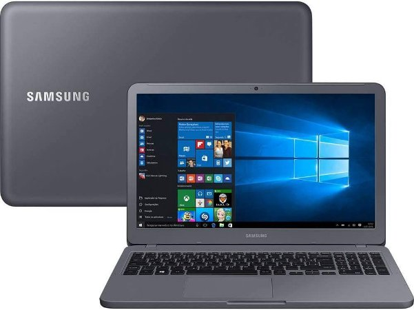 "Notebook usado, Samsung NP350XAA-KD1BR, Intel Core i5-8250U 1.60-1.80GHz, 8GB, HD1TB, 15.6"" LED HD, Win10, Bateria perfeita!"
