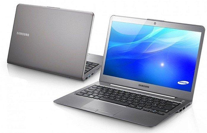 Notebook usado, Ultrabook Samsung NP530U3B, Intel Core i5-2467M 1.60GHz, 4GB, HD500GB, Webcam, Wifi, Win10 Home, Bateria boa.